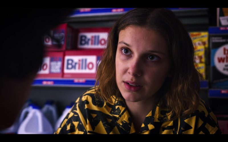 A close up of Millie Bobby Brown