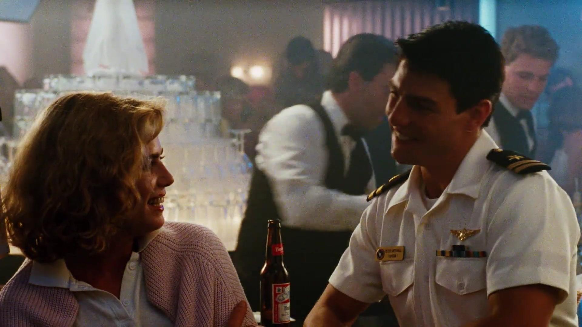 Budweiser Beer Enjoyed by Tom Cruise As Maverick in Top Gun (1986) Movie