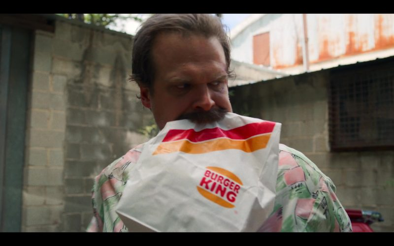 Burger King Fast Food Paper Bag Held by David Harbour as Jim Hopper in Stranger Things (2)