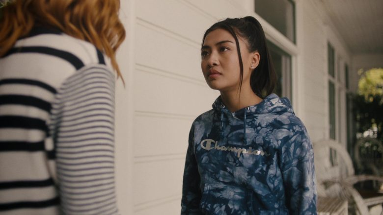 """Champion Hoodie Worn by Brianne Tju in Light as a Feather - Season 2, Episode 4, """"... Sick as a Dog"""" (2019) - TV Show Product Placement"""