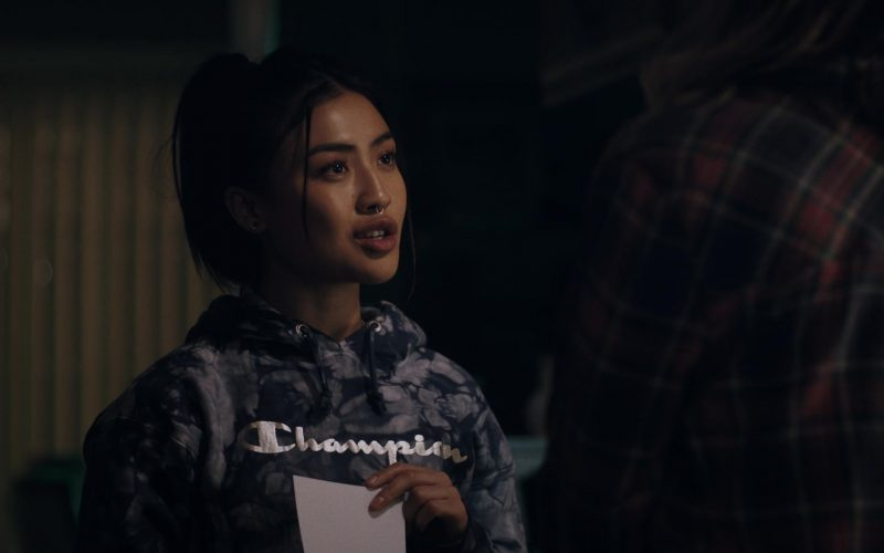 Champion Printed Hoodie Worn by Brianne Tju in Light as a Feather (2)