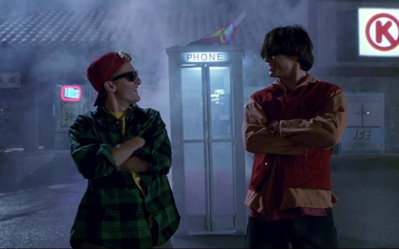 Circle K and Miller Lite Beer Neon Sign in Bill & Ted's Bogus Journey
