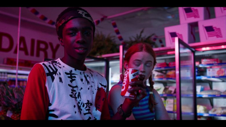 Caleb McLaughlin standing in front of a store