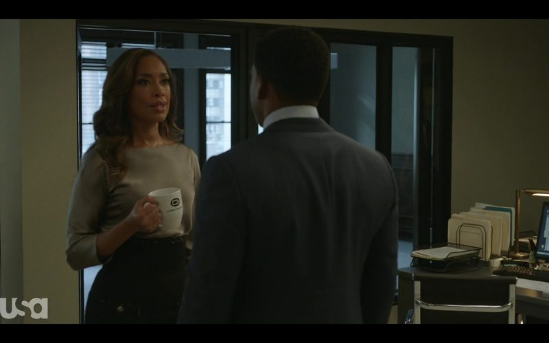 Coffee Beanery White CB Logo Ceramic Mug Held by Gina Torres in Pearson (2)