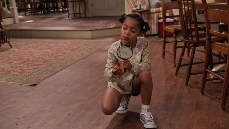 "Converse Glitter Shoes Worn by Jordyn Raya James in Family Reunion - Season 1 Episode 5, ""Remember Grace Under Fire?"" (2019) - TV Show Product Placement"