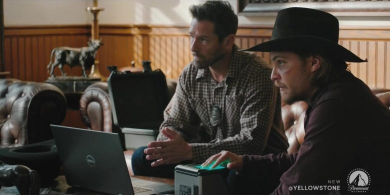 """Dell Notebook in Yellowstone - Season 2, Episode 3, """"The Reek of Desperation"""" (2019) TV Show Product Placement"""