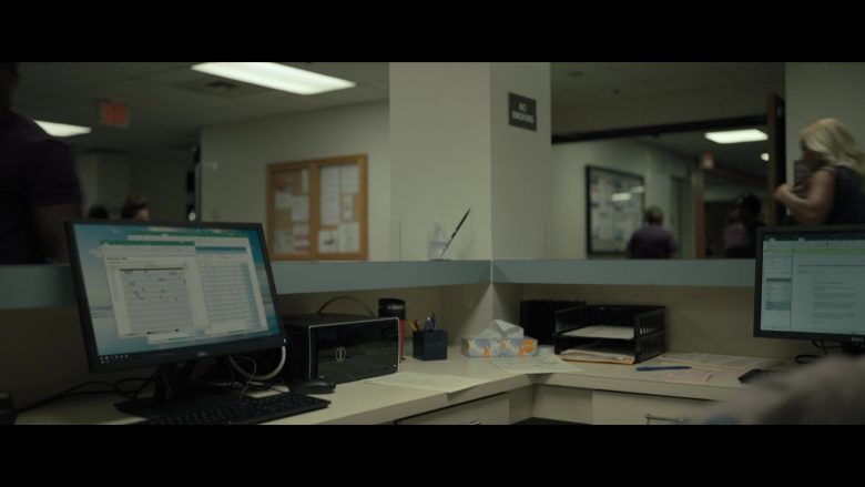 Dell PC & Monitor in Point Blank (2019) - Movie Product Placement