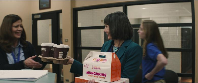 Dunkin' Donuts Coffee and Munchkins Donut Hole Treats in Breakthrough (2019) - Movie Product Placement