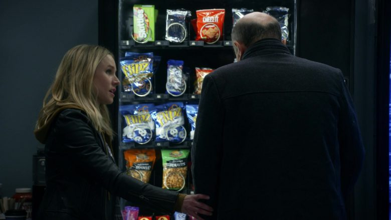 "Flipz Pretzels, Skittles Candies and Cheez It Crackers in Veronica Mars - Season 4, Episode 7, ""Gods of War"" (2019) - TV Show Product Placement"