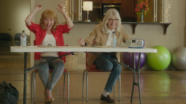 Icelandic Glacial Bottled Water Enjoyed by Jacki Weaver & Diane Keaton in Poms (2019) - Movie Product Placement