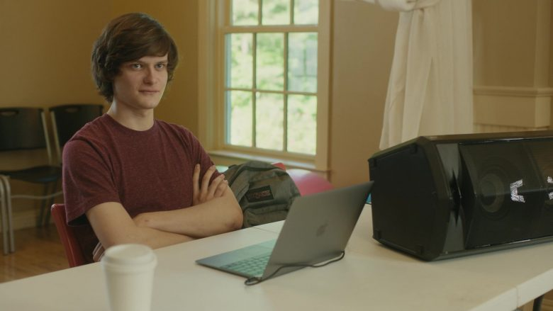 Jansport Backpack and Apple MacBook Laptop Used by Charlie Tahan in Poms (2019) - Movie Product Placement