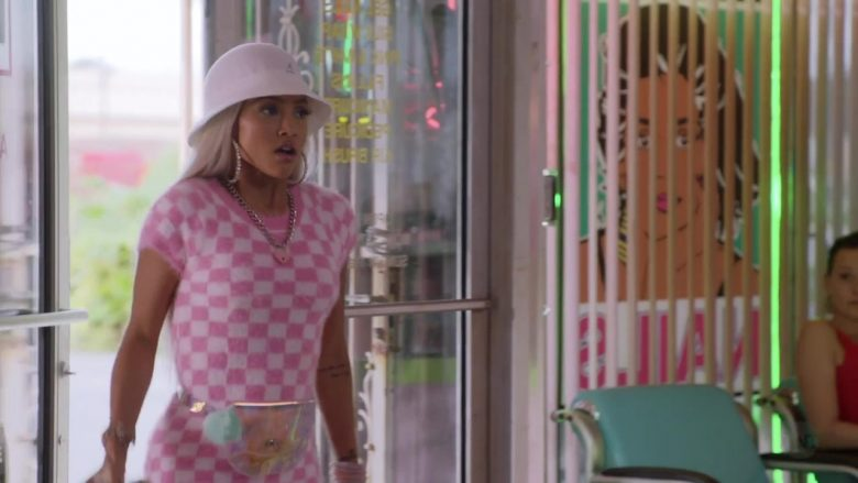 """Kangol White Hat Worn by Karrueche Tran in Claws - Season 3, Episode 5, """"Zaddy Was a Rolling Stone"""" (2019) - TV Show Product Placement"""
