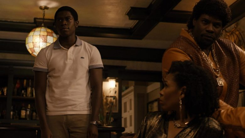 "Lacoste Polo Shirt Worn by Damson Idris in Snowfall - Season 3, Episode 1, ""Protect and Swerve"" (2019) - TV Show Product Placement"