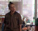 Lacoste Women's Leopard Short Sleeve Shirt Worn by Judy Reyes in Claws (1)