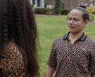 Lacoste Women's Leopard Short Sleeve Shirt Worn by Judy Reyes in Claws (8)