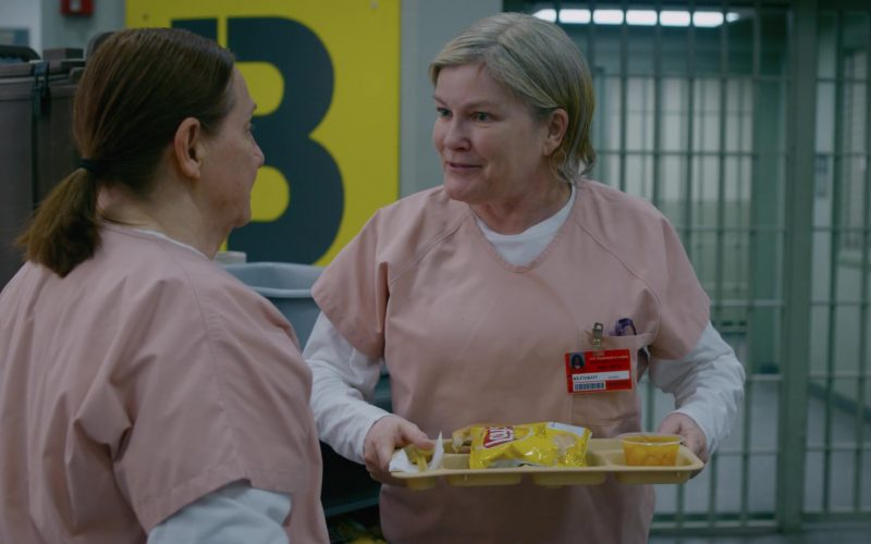 Lay's Chips Held by Kate Mulgrew as Galina Red Reznikov in Orange Is the New Black