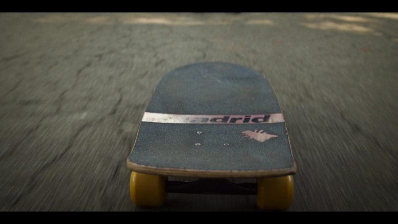 A person riding a skate board