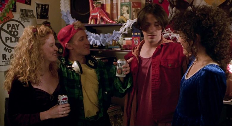 Miller Lite Beer Enjoyed by Alex Winter and Pepsi Can Held by Sarah Trigger in Bill & Ted's Bogus Journey (1991) Movie