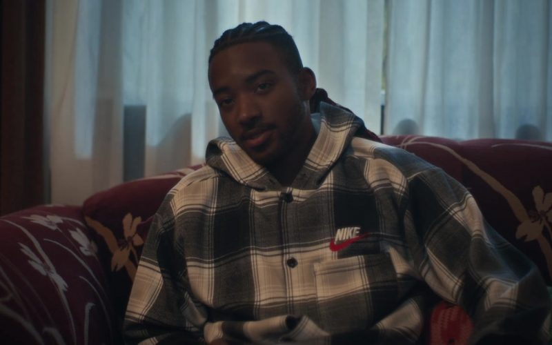 Nike Plaid Hoodie Shirt in Euphoria