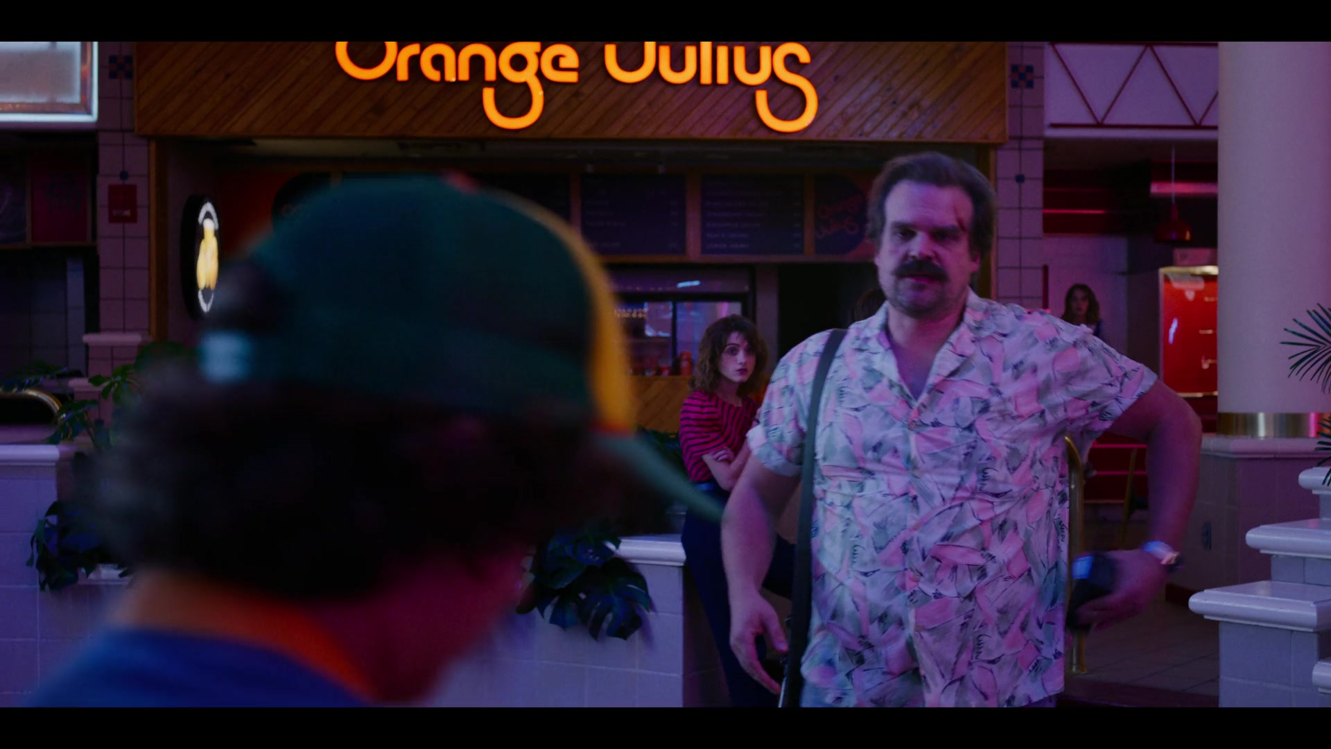 Orange Julius Fruit Drink Beverage Store in Stranger Things - Season