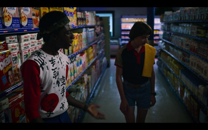 Post Bran Flakes Breakfast Cereal and Kellogg's Corn Flakes Cereal in Stranger Things