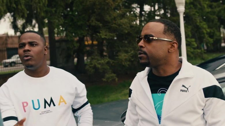 Puma Men's Sweatshirt and White Jacket in Single Again by Big Sean (2019) - Official Music Video Product Placement