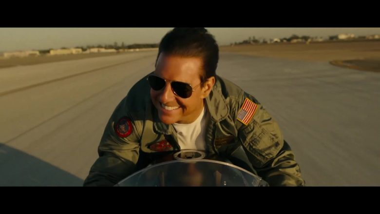 Ray-Ban Aviator RB3025 Sunglasses Worn by Tom Cruise in Top Gun: Maverick (2020) - Movie Product Placement