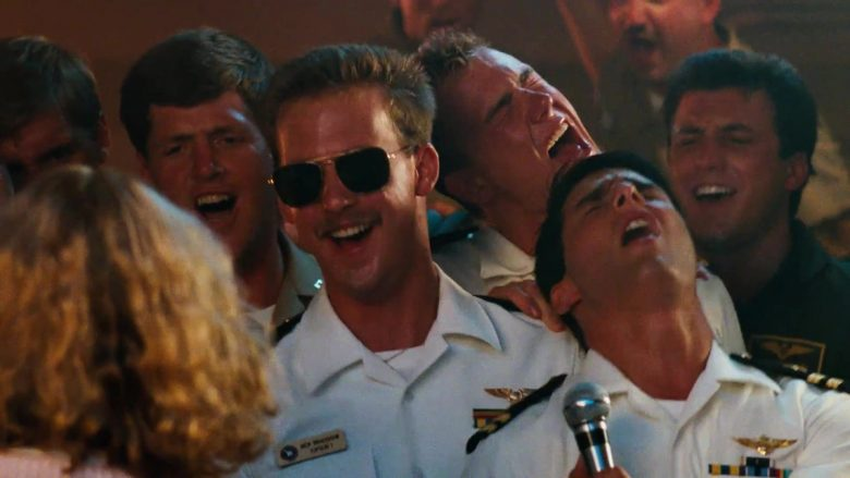 """Ray-Ban Caravan 3136 Sunglasses Worn by Anthony Edwards as Nick """"Goose"""" Bradshaw in Top Gun (1986) - Movie Product Placement"""