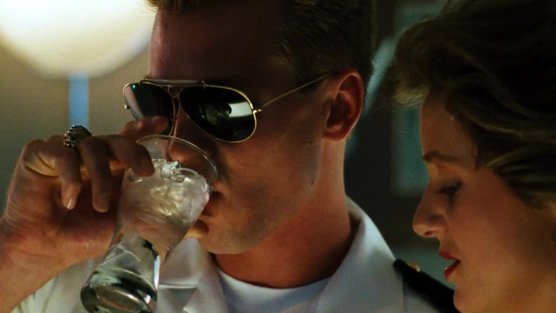 "Ray-Ban Shooter 3138 Aviator Sunglasses Worn by Val Kilmer as Tom ""Iceman"" Kazansky in Top Gun (1986) - Movie Product Placement"