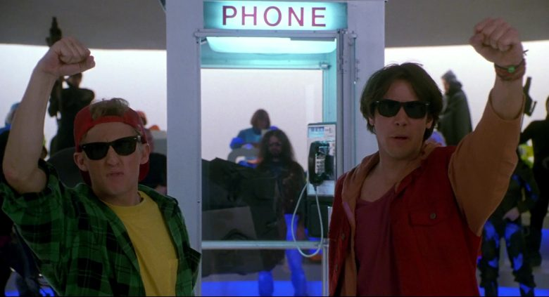Ray-Ban Wayfarer Sunglasses Worn by Keanu Reeves & Alex Winter in Bill & Ted's Bogus Journey (1991) - Movie Product Placement