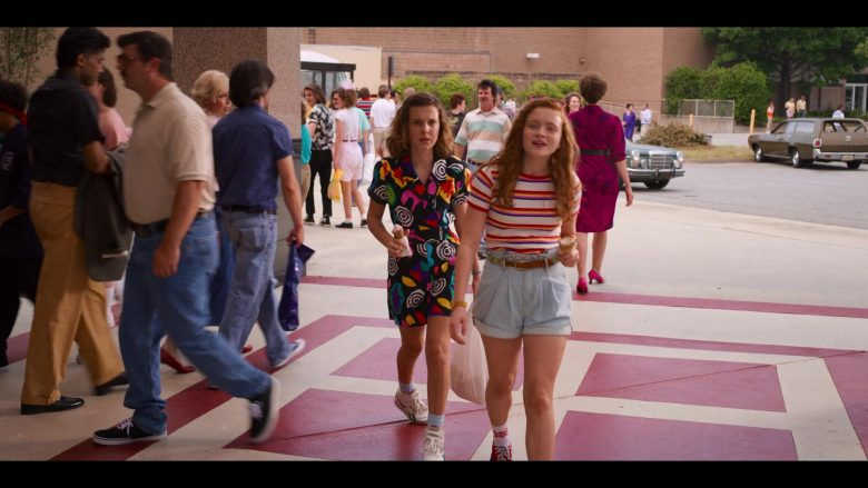 "Reebok Sneakers Worn by Millie Bobby Brown as Eleven in Stranger Things - Season 3, Episode 2, ""The Mall Rats"" (2019) - TV Show Product Placement"