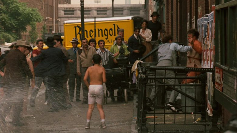 Rheingold Beer Yellow Truck in The Godfather (1972) - Movie Product Placement
