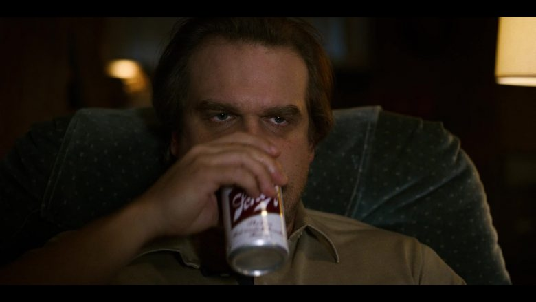 "Schlitz Beer Enjoyed by David Harbour as Jim Hopper in Stranger Things - Season 3, Episode 1, ""Suzie, Do You Copy?"" (2019) - TV Show Product Placement"