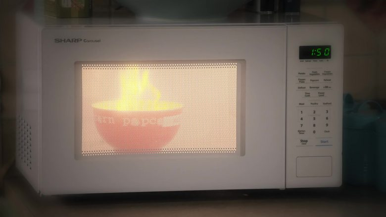 """Sharp Carousel Microwave Oven in Family Reunion - Season 1 Episode 5, """"Remember Grace Under Fire?"""" (2019) - TV Show Product Placement"""