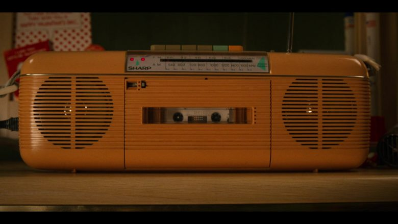 "Sharp Yellow Cassette Tape Recorder in Stranger Things - Season 3, Episode 3, ""The Case of the Missing Lifeguard"" (2019) - TV Show Product Placement"