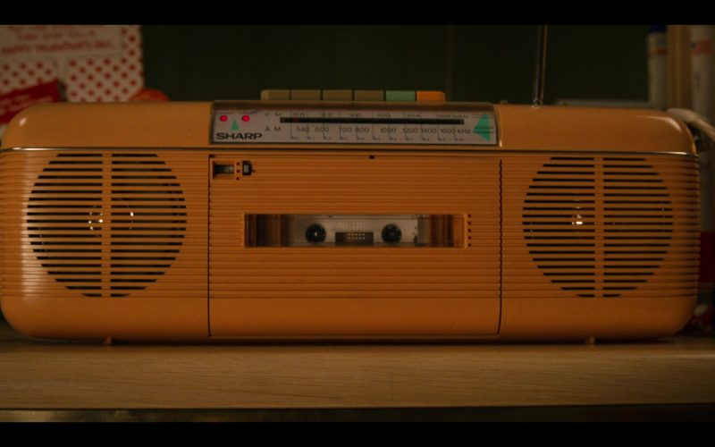 Sharp Yellow Cassette Tape Recorder in Stranger Things