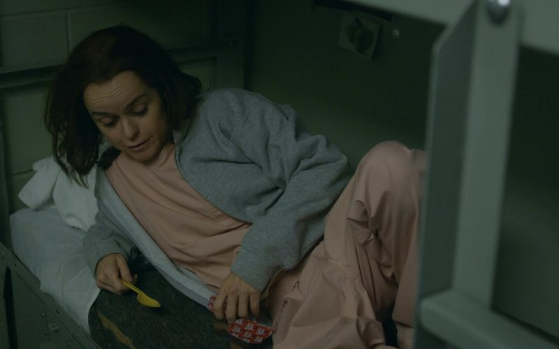 Snack Pack Pudding Enjoyed by Taryn Manning as Tiffany Pennsatucky Doggett in Orange Is the New Black