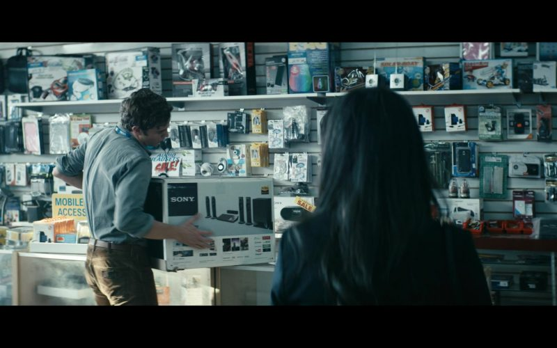 Sony Speakers and Bluetooth Sound System Held by Jack Quaid in The Boys (1)