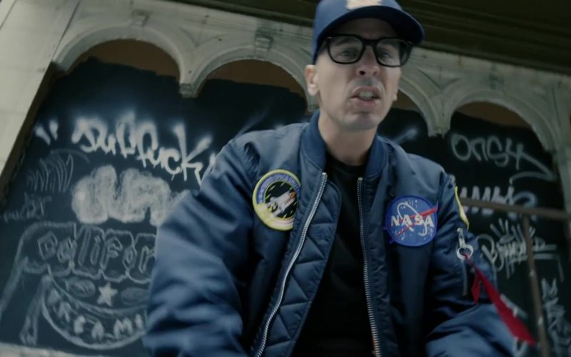 Space Patch NASA Logic Merch Bomber Jacket Worn by Logic in Homicide (5)