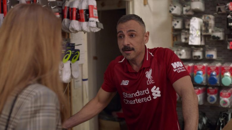 Standard Chartered, New Balance, Western Union, Liverpool F.C in Four Weddings and a Funeral - Season 1, Episode 4, The Winner Takes It All (2019) - TV Show Product Placement