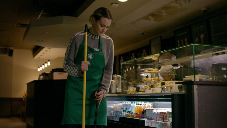 Starbucks Coffeehouse Apron Worn by Taylor Schilling as Piper Chapman in Orange Is the New Black - Season 7, Episode 13, Here's Where We Get Off (2019) - TV Show Product Placement