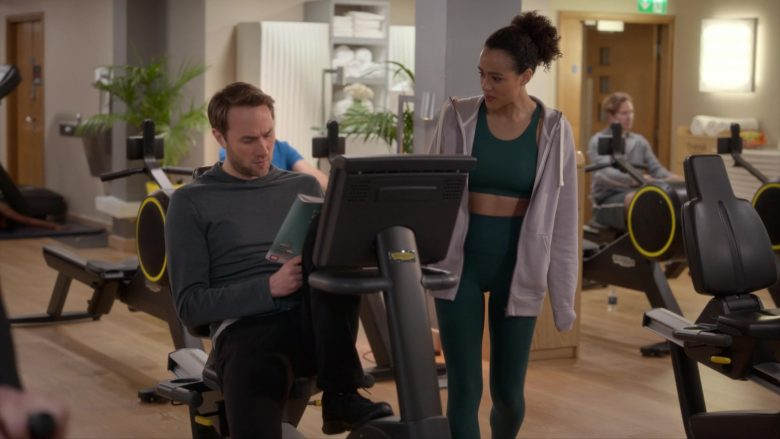 Technogym gym equipment and fitness solutions in Four Weddings and a Funeral - Season 1, Episode 3, We Broke (2019) - TV Show Product Placement