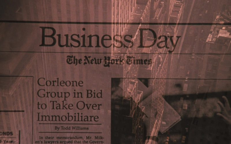 The New York Times Newspaper in The Godfather Part 3