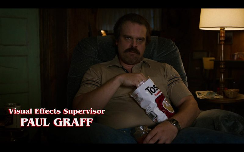 David Harbour holding chips