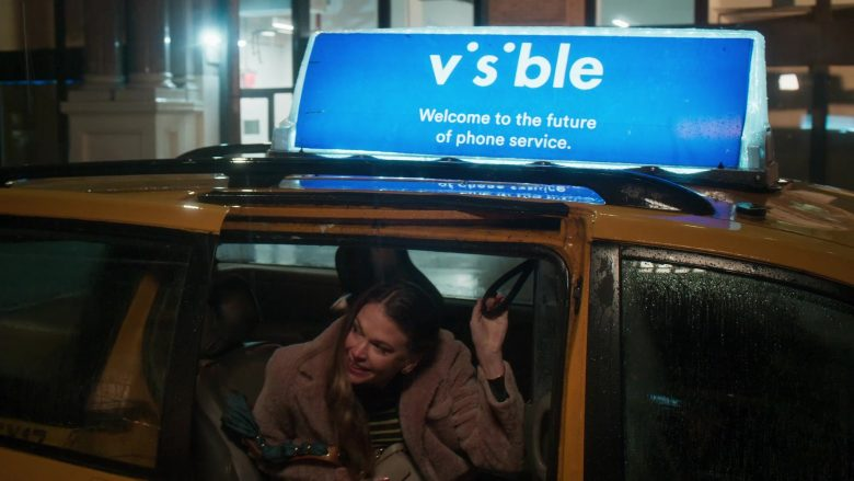 Visible Phone Service Taxi Advertising in Younger - Season 6, Episode 5, Stiff Competition (2019) - TV Show Product Placement