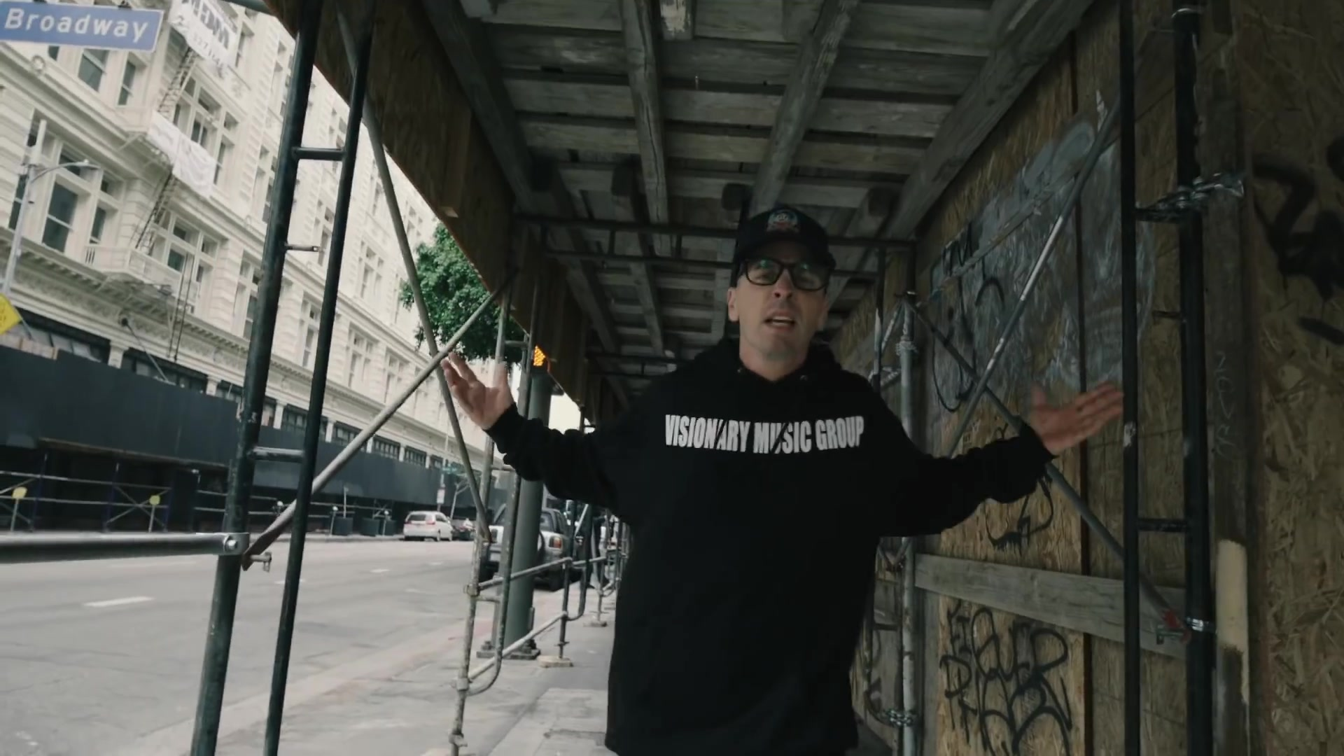 Visionary Music Group Record Label Hoodie Worn by Logic in