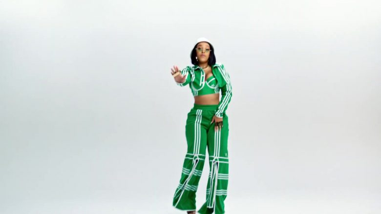 Adidas Green Outfit Worn by Doja Cat in Juicy (2019) - Official Music Video Product Placement