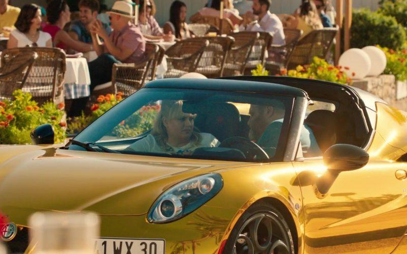 Alfa Romeo Gold Convertible Car in The Hustle (1)