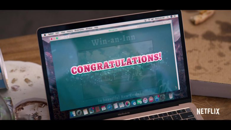 Apple MacBook Air Laptop and Safari WEB Browser in Falling Inn Love (2019) - Movie Product Placement