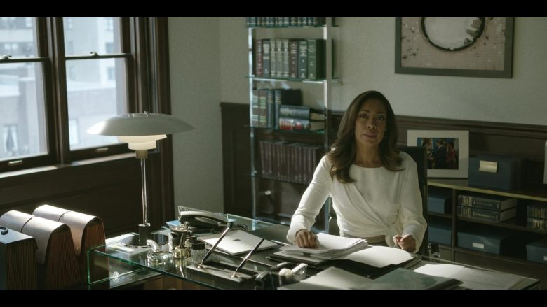 Apple MacBook Laptop Used by Gina Torres in Pearson - Season 1, Episode 7, The Immigration Lawyer (2019) - TV Show Product Placement